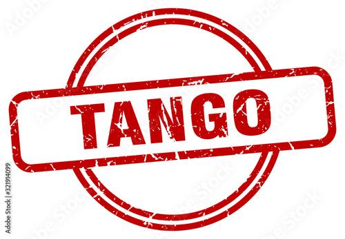 tango stamp. tango round vintage grunge sign. tango Wallpaper Mural
