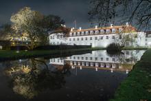 Odense Slot Castle . Night Photo. Denmark.