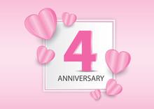 4 Years Anniversary Logo Celeb...