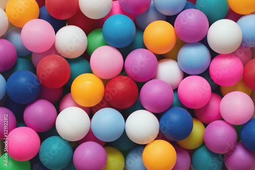 Fotomural Full Frame Shot Of Colorful Balls