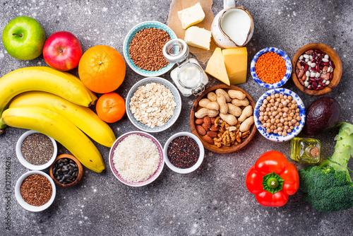 Lacto vegetarian diet concept. Healthy food