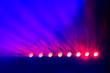 canvas print picture - Lights at stage or concert show. Night party