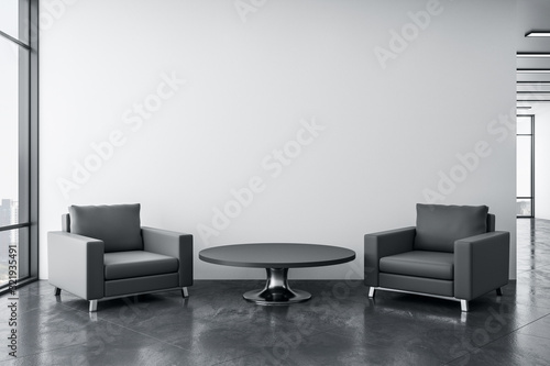 Fototapeta Cozy waiting room with two chairs obraz