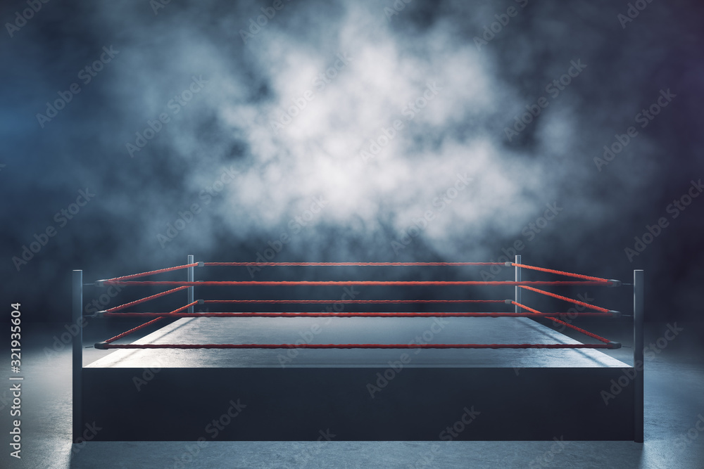 Fototapeta Empty boxing ring