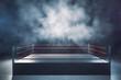 Leinwanddruck Bild - Empty boxing ring