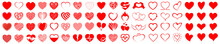 Set Of Hearts Icon, Heart Draw...