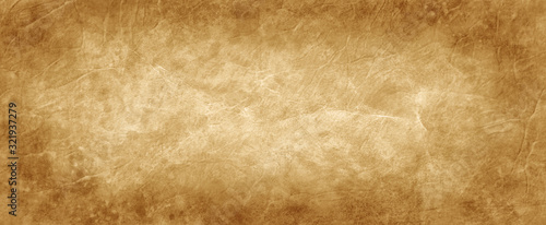 Brown texture background in old vintage crumpled brown paper design with antique Canvas Print