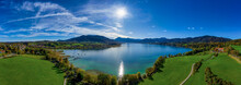 View Over The Bavarian Tegernsee, A Very Popular Lake.