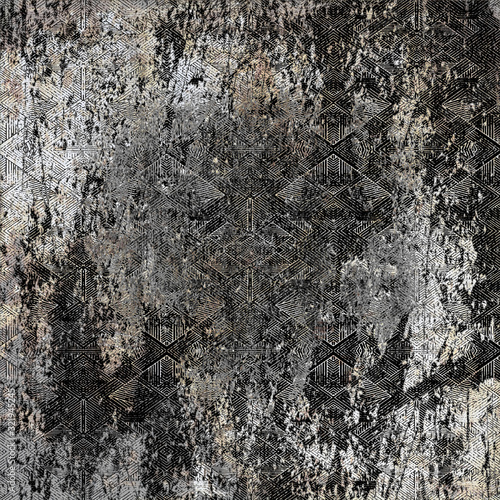 Geometry repeat pattern with texture background Wallpaper Mural