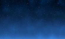 Galaxy With Star. Night Blue S...