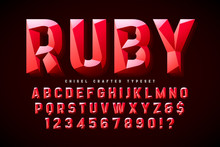 Crystal Display Font With Face...
