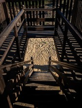 Beautiful Shot Of Wooden Stair...