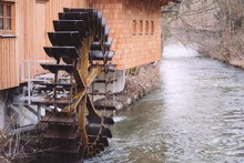 Old Functional Watermill On A ...