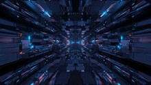Futuristic Sci-fi Space Tunnel...
