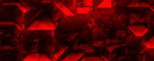 Geometric Red Glowing Crystal ...