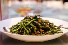 Chinese Stir Fried Green Bean - Fried Yard Long Bean
