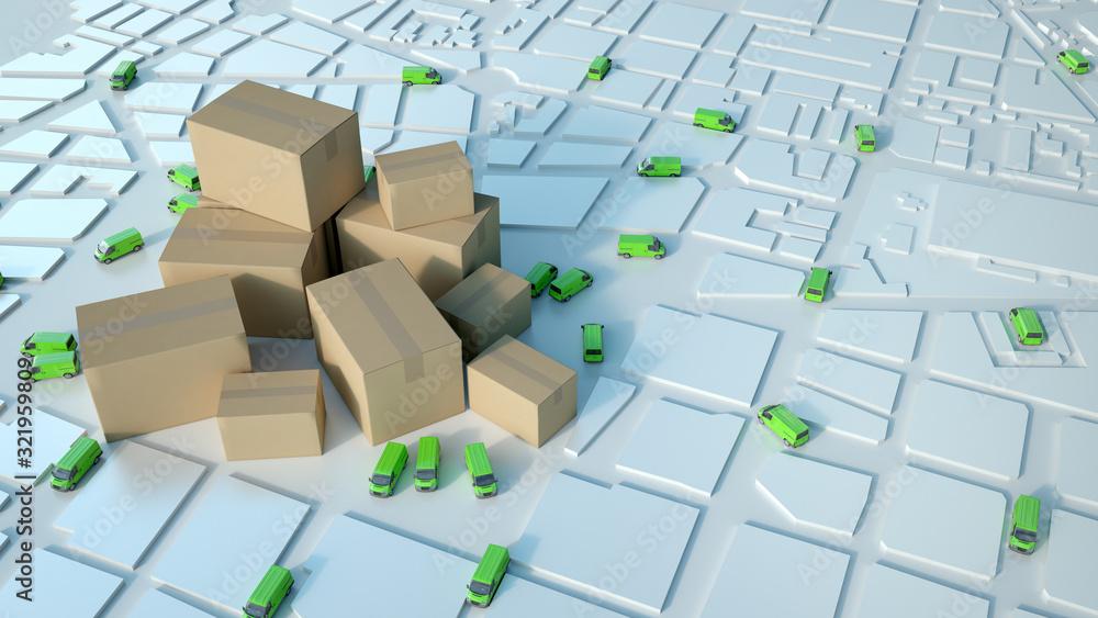 Fototapeta Goods distribution green