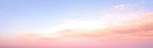 Orange Sky And Sunrise Colored Wide Sky And Gradient And White Cloud Texture And Striped Abstract Dirty
