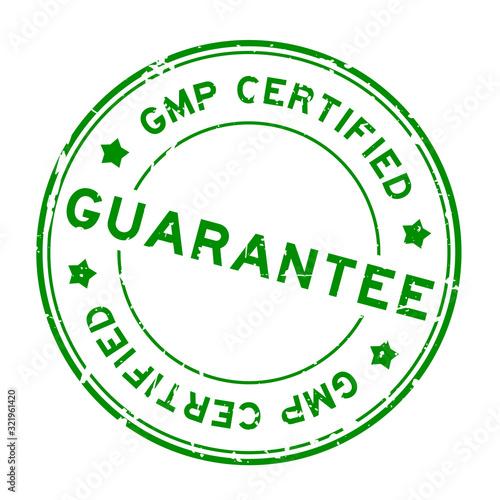 Grunge green GMP (Good manufacturing practice) certified guarantee word round ru Canvas Print