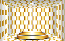 Golden Stand In Golden Room