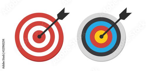 The arrow presses the target button Canvas Print