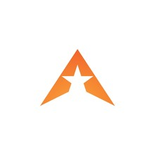 A Letter Star Logo Business Template Vector Icon