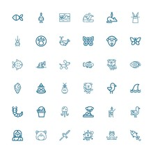 Editable 36 Wildlife Icons For...