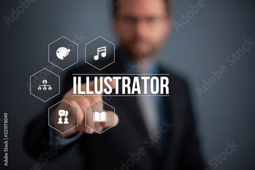 Illustrator Billede på lærred