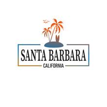 Santa Barbara Logo Design For Travelling Industry Or T-shirt Design