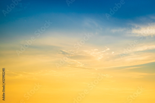 plakat Sunset sky for background,sunrise sky and cloud at morning.