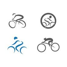 Set Cycling Icon Vector Illustration Design Logo