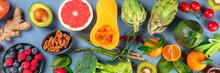 Vegan Food Top-down Panoramic ...
