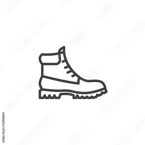 Canvastavla Hiking boot line icon