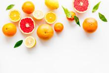 Fresh Citrus Frame. Oranges, T...