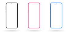 Smartphone Mockup Set. Mobile ...
