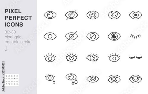 Fotografía Eye line icon set
