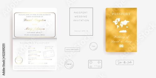 Fotografía Destination Wedding Pass Vector