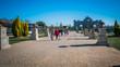 Leinwanddruck Bild - The beautiful Europa park in Torrejon De Ardoz, which is a city located in Madrid, Spain, Europe.