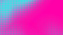 Dots Halftone Green Pink Color...