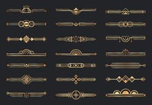 Golden Art Deco Dividers. Deco...
