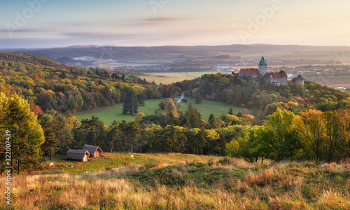 Smolenice castle with forest in Slovakia