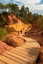 Stairs Of The Roussillon Ochre...