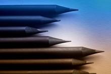 Closeup Shot Of Sharpened Penc...