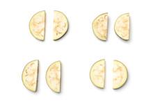 Sliced Aubergine Or Eggplant