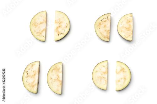 Fototapeta Sliced aubergine or eggplant obraz