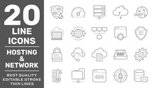 Web Hosting And Network Icons ...