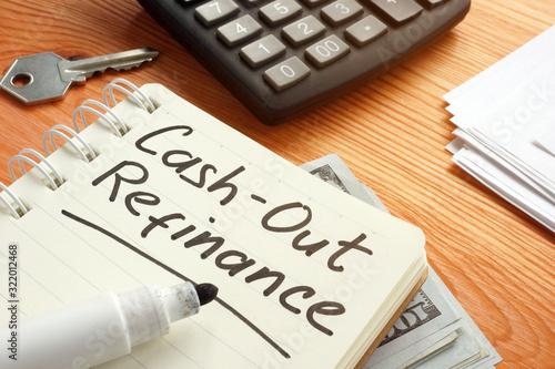 Fototapeta Business photo shows hand written text cash out refinance obraz