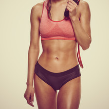 Part Of Young Athletic Woman P...