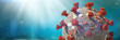 canvas print picture - coronavirus outbreak, health threatening virus