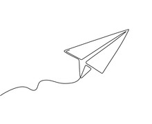 One Line Paper Plane. Abstract...